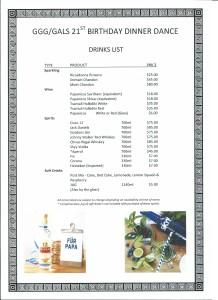 Drinks List V2